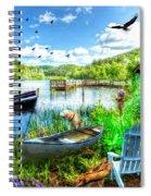 Spring Serenity At Lakeside Spiral Notebook