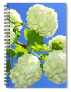 Spring Snowballs Spiral Notebook