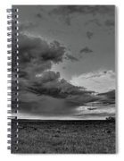 Spring Storm Front In Black And White Spiral Notebook