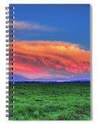 Spring Storm Over Wausau Spiral Notebook