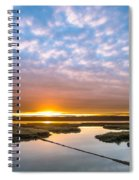 Spring Sunrise On Arcata Bay Spiral Notebook