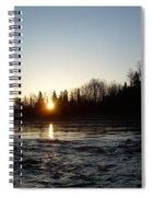 Spring Sunrise Over Mississippi River Spiral Notebook