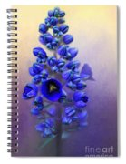 Spring Sunshine On Blue Spiral Notebook
