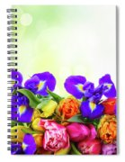 Spring Tulips And Irises Spiral Notebook