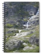 Spring Waterfall In The Tetons Spiral Notebook