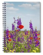 Spring Wild Flowers Meadow Spiral Notebook