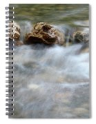 Spring With Rocks Nature Scene Spiral Notebook