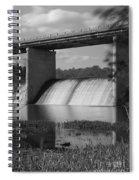 Springfield Lake Dam Grayscale Spiral Notebook