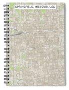 Springfield Missouri Us City Street Map Spiral Notebook