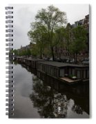 Springtime Amsterdam - Boathouses And Miniature Gardens Spiral Notebook
