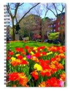 Springtime At Abingdon Square Park Spiral Notebook
