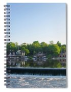 Springtime At Boathouse Row In Philadelphia Spiral Notebook