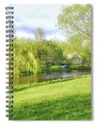 Springtime At Lazy Stream Spiral Notebook