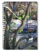 Springtime Bridge Through Japanese Maple Tree Spiral Notebook