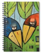 Springtime Lovebirds Spiral Notebook