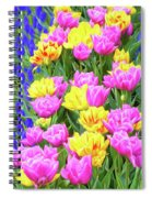 Springtime Tulips 01 Painterly Effecy Spiral Notebook
