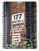 Sprinklers Throughout Building Spiral Notebook