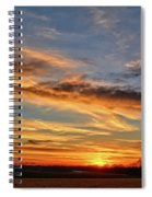 Spwinter Sunset Spiral Notebook