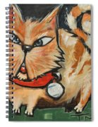 Square Cat Two Spiral Notebook