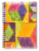 Square Cubes Abstract Spiral Notebook