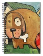 Square Dog Spiral Notebook