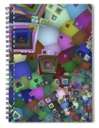 Square Man Spiral Notebook