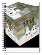 Square Meal - Use Red-cyan 3d Glasses Spiral Notebook