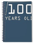 Square Root Of 100 10 Years Old Birthday Spiral Notebook