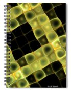 Squares In Abstract Spiral Notebook