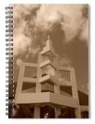 Squares In The Sky Spiral Notebook