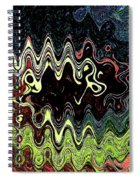 Squash Beans And Peppers Abstract Spiral Notebook