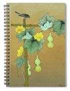 Squash Vine And Bamboo Spiral Notebook