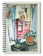 Squirrel On Fence Spiral Notebook
