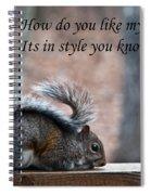 Squirrel With Fur Collar Spiral Notebook