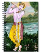 The Divine Flute Player, Sri Krishna Spiral Notebook
