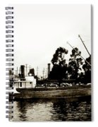 Steam Schooner Helene At San Padero Spiral Notebook
