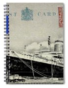 Ss United States - Post Card Spiral Notebook