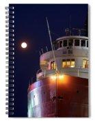 Ss William A Irvin At Night Spiral Notebook