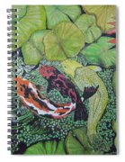 Summer Pond At Lunchtime Spiral Notebook