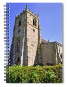 St Andrew's Church At Cubley In Derbyshire Spiral Notebook