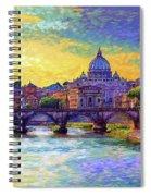 St Angelo Bridge Ponte St Angelo Rome Spiral Notebook