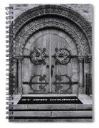 St Ann Church - Bw Spiral Notebook