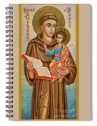 St. Anthony Of Padua - Jcapa Spiral Notebook