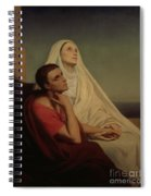 St Augustine And His Mother St Monica Spiral Notebook