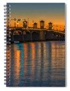 St Augustine Bridge Of Lions Sunset Dsc00433_16 Spiral Notebook
