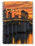 St Augustine Bridge Of Lions Sunset Dsc00565_16 Spiral Notebook