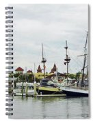 St Augustine Marina From The Water Spiral Notebook