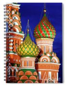 St Basils Cathedral In Moscow Russia Spiral Notebook