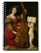 St. Cecilia With An Angel Holding A Musical Score Spiral Notebook