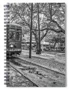 St. Charles Streetcar Monochrome Spiral Notebook